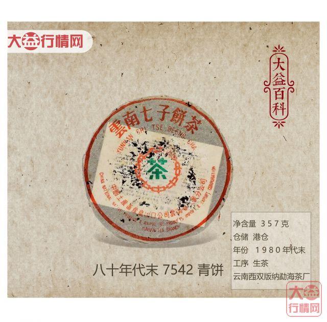 【大益百科】八十年代末 7542 青饼