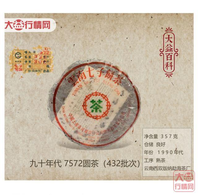 【大益百科】九十年代 7572圆茶(432批次)